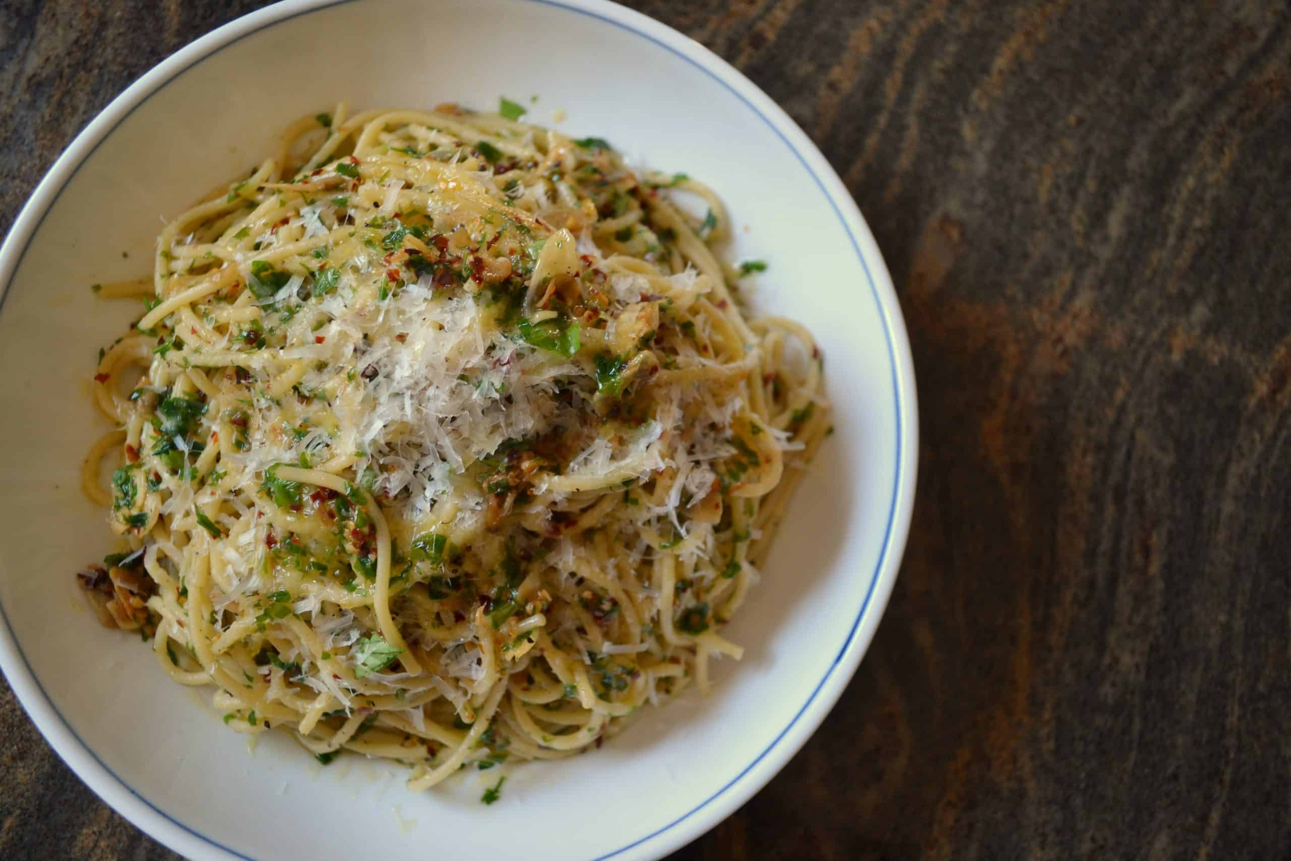 """Spaghetti Aglio e Olio from """"Chef"""""""