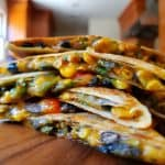 Stack of Vegetarian Quesadilla wedges
