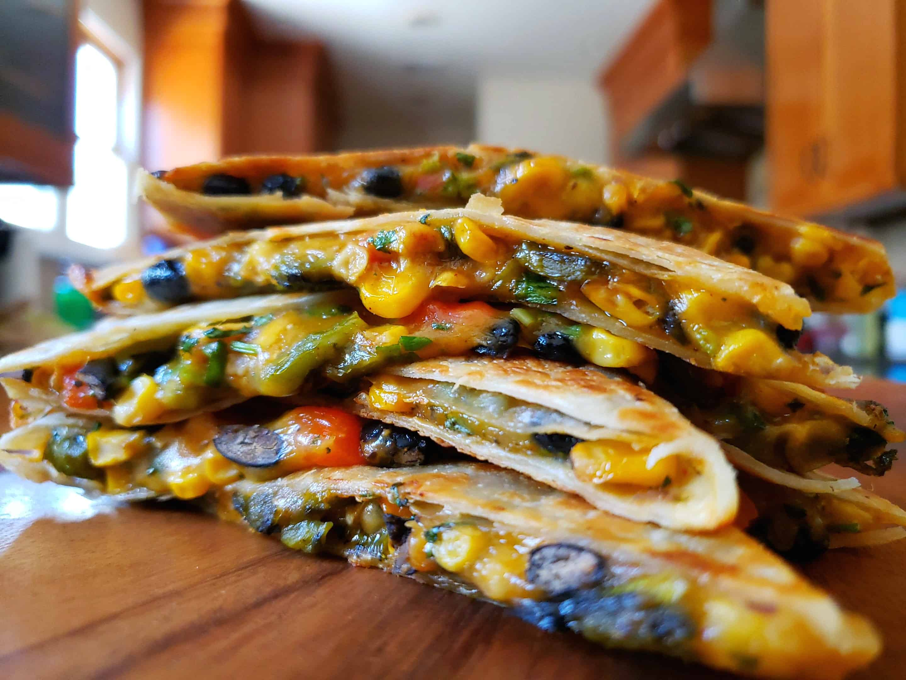 Black Bean And Poblano Vegetarian Quesadilla Inspired Through Food