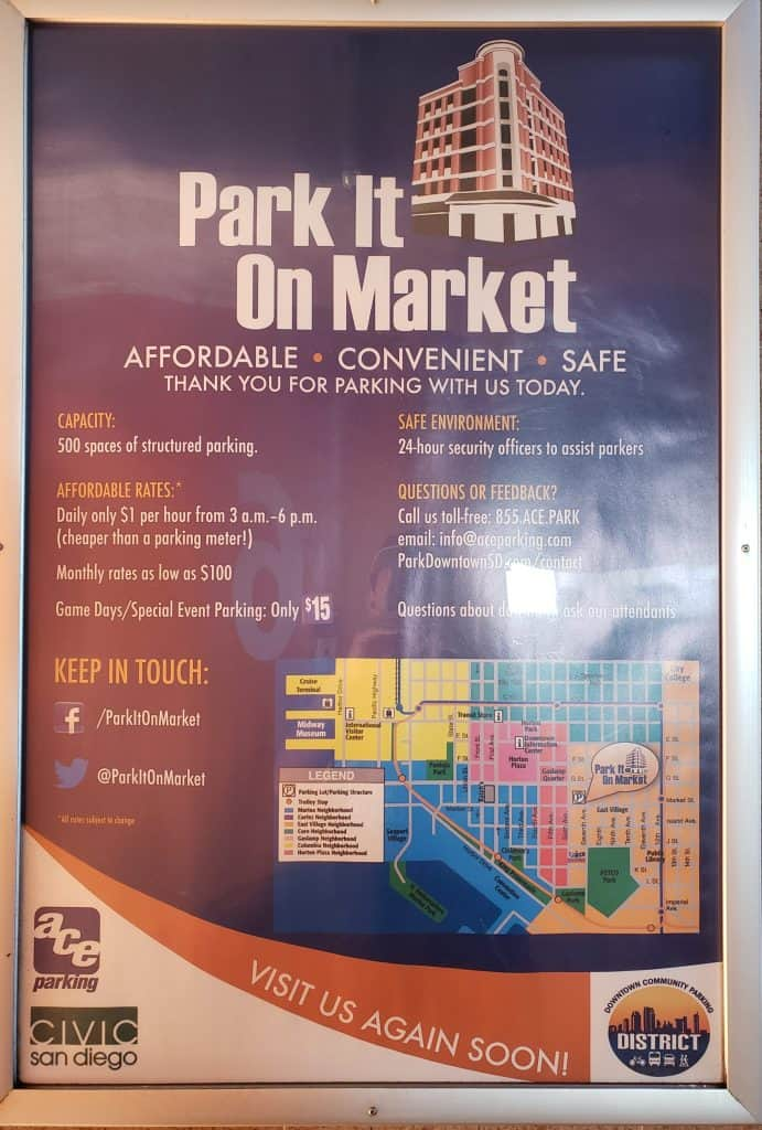 Sign at Park It On Market in Gaslamp