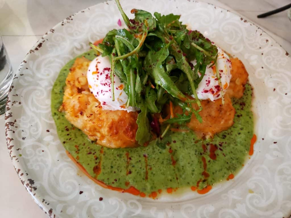 Shrimp Corn Cakes at Cafe 21