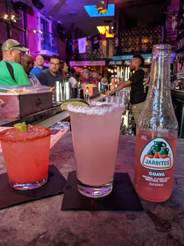Drinks at El Chingon Badass Mexican Gaslamp