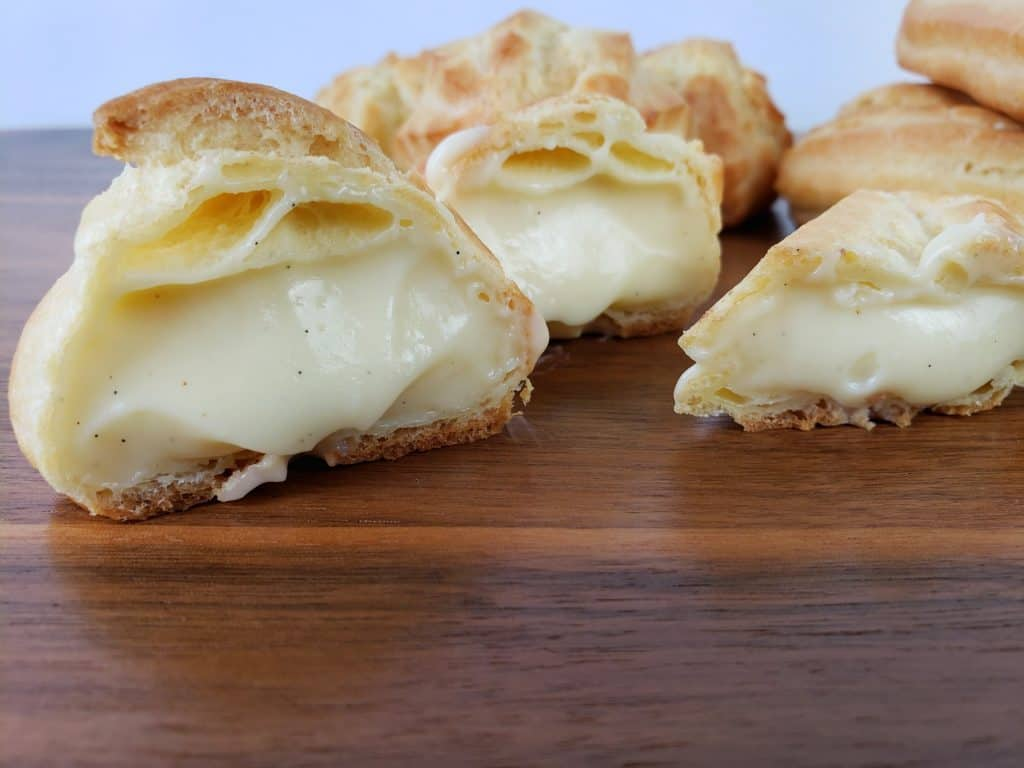 Filled puff and eclair shells