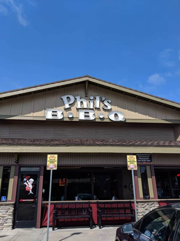 Exterior of Phil's BBQ