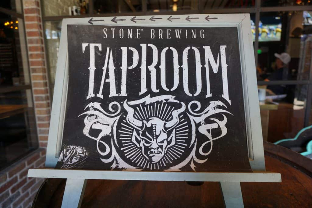Stone Brewing Tap Room on the outskirts of Gaslamp