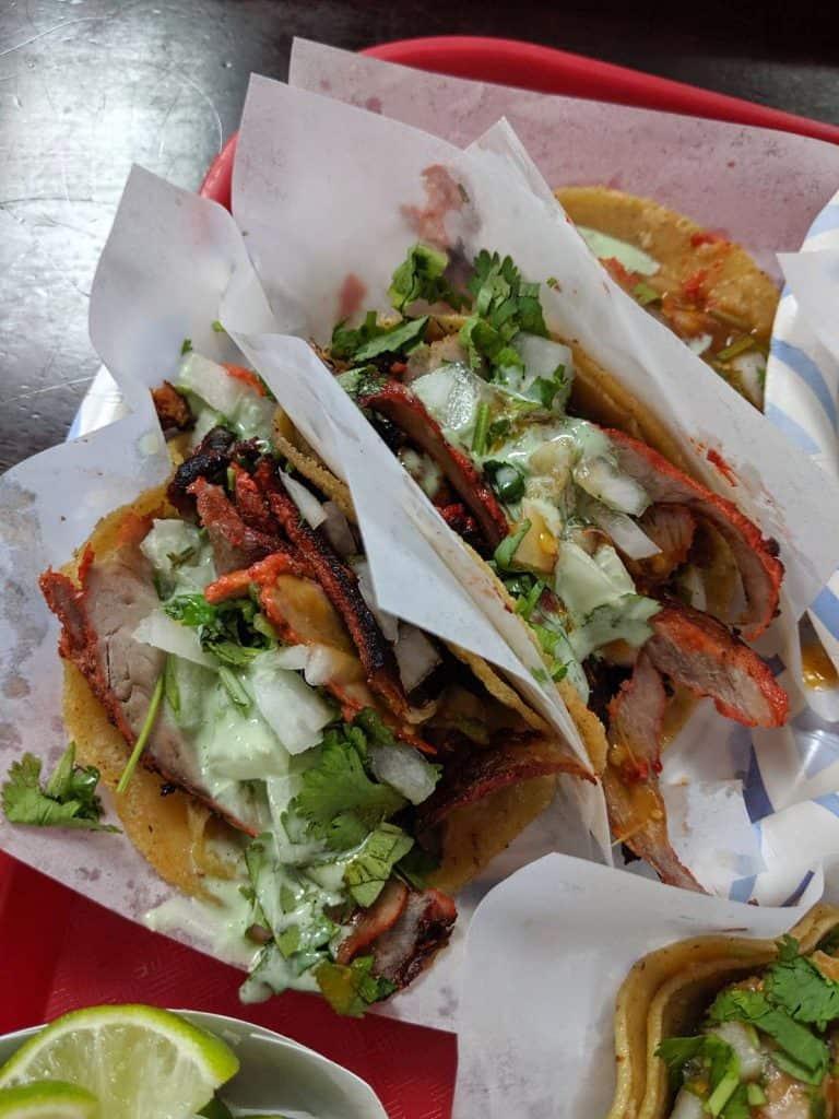 Adobada Tacos at Tacos El Gordo