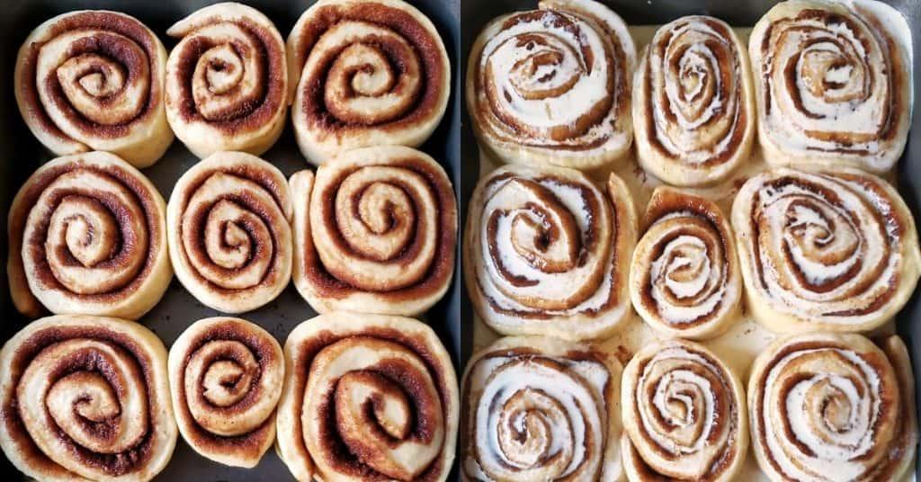 Proofed rolls with heavy cream